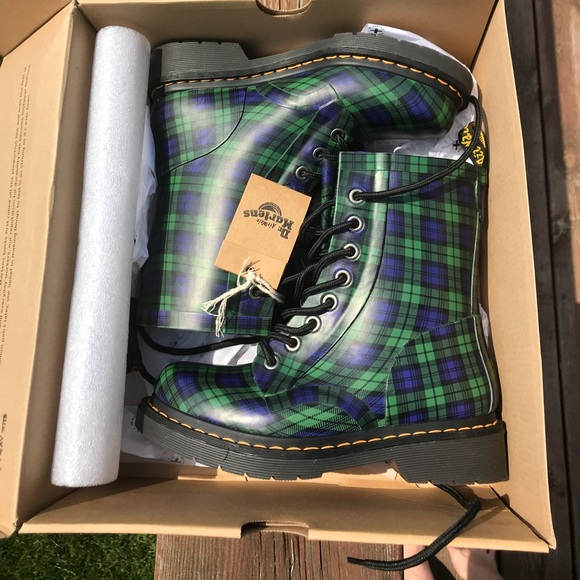 2aa91f9687e6d Dr. Martens Shoes   Doc Martens Green Plaid Boots Us Womens 5   Poshmark